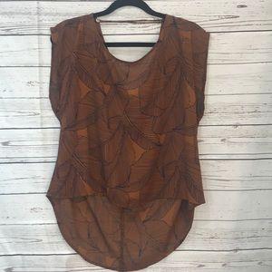 Ro & De high low blouse (V13